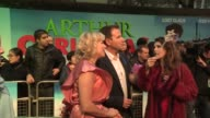 Abi Titmuss and Richard Arnold at the Arthur Christmas World Premiere at London England