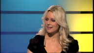 Abi Titmuss stars in theatre comedy 'The Naked Truth' ENGLAND London GIR INT Abi Titmuss LIVE STUDIO interview SOT On having fallen into nursing...