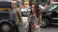 Abigail Spencer arrives at the Today show in Rockefeller Center poses with fans in Celebrity Sightings in New York