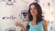 Abigail Spencer on her tips to get ready for summer her plans for the 4th of July and her two new movies at the Muscle Milk Women's Fitness Retreat...