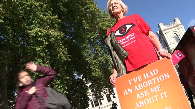 50th anniversary of act being passed / move to ban protests outside clinics ENGLAND Proabortion campaigner Diane Munday / Antiabortion campaigner...