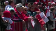 WGN About 10000 people lined an abbreviated parade route up Columbus Drive between Balbo and Jackson for Chicago's 126th annual Polish Constitution...