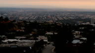 Above Beverly Hills seen from Laurel Canyon timelapse dusk