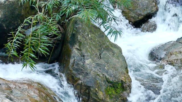 Über fließendem Wasserfall