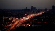 TL Above view of the Zvenigorodskoe highway. Night / Russia, Moscow