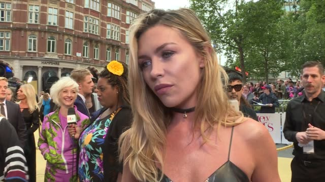 'Absolutely Fabulous The Movie' London premiere red carpet arrivals Abby Clancy interview SOT