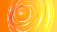 abstract 3d orange circles- HD background animation