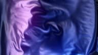 3d Rendering blau metallic Tuch Animation Hintergrund abstrakt