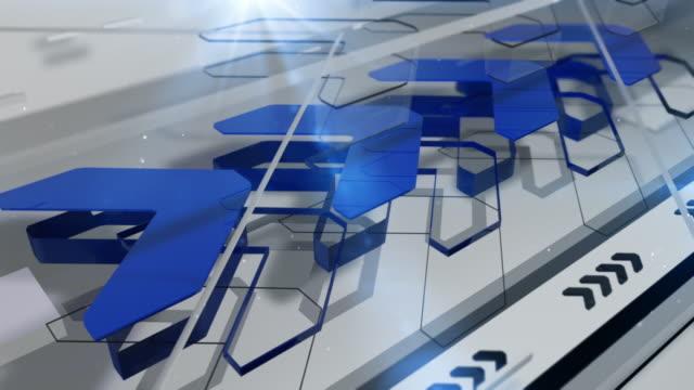 Abstrakte Pfeile Hintergrund Loop-Blau (Full HD