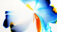 Abstract background multicolored paint flowing mixing