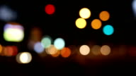 Abstract background of defocused lights