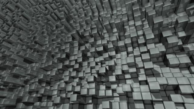 Abstrakt Hintergrund der Metall reflektierende Chrom bars