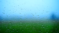 Abstract background texture with raindrop on the window pane.