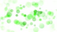 Abstracte achtergrond met groene cirkels