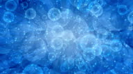 Abstract blue animation background loop