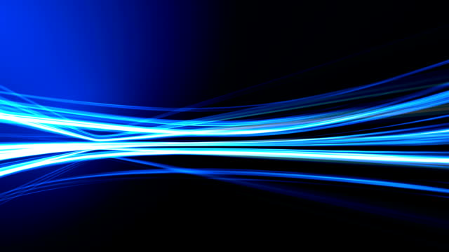 Abstract blue lines on dark background