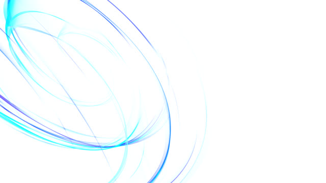 Abstrakte leuchtende blaue Kurven HD-loop