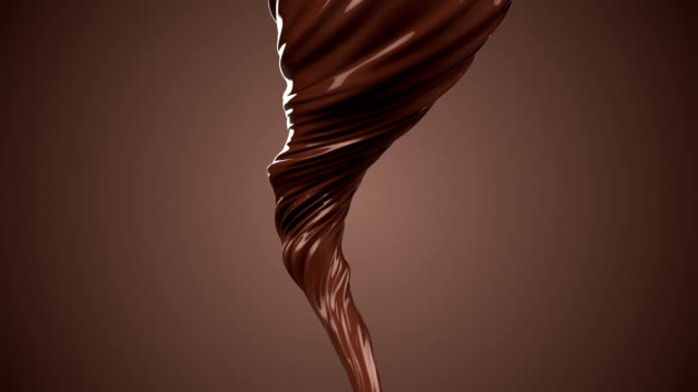 Abstract chocolate vortex background