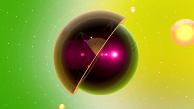 Abstract Cross Section Of Multiple Spheres With Particle Effects