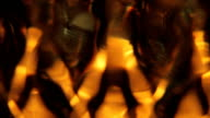 Abstrakte crystal Feuer Hintergrund-Endlos wiederholbar
