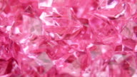 Abstract crystal pink background loopable