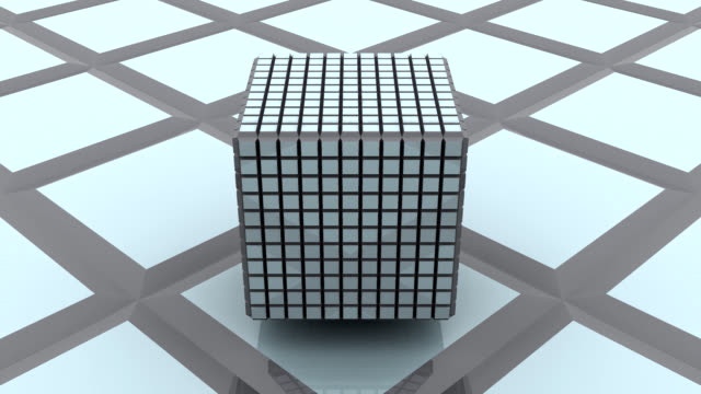 3D Abstract Cube Spinning