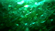 Abstract Emerald triangle background