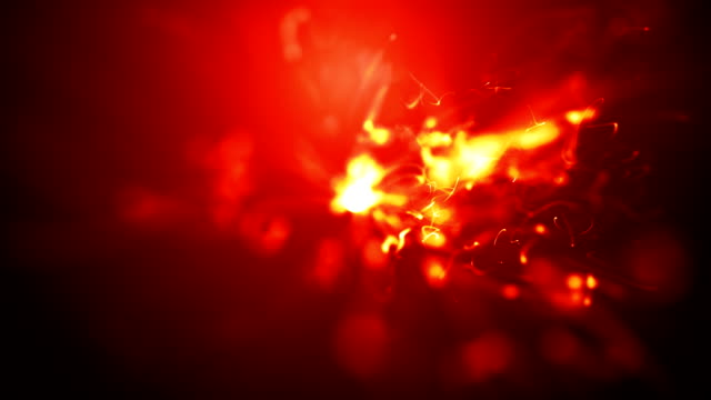abstract fire animation