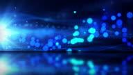 Abstrakte fließenden Wellen Hintergrund-Loop-reflektierende Etage Blue (HD)