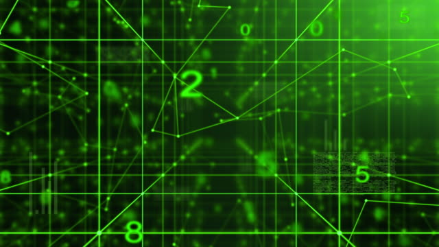 abstract futuristic technology motion,green color