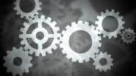 Abstract Gears Loopable black and white