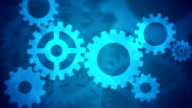 Abstract Gears Loopable blue