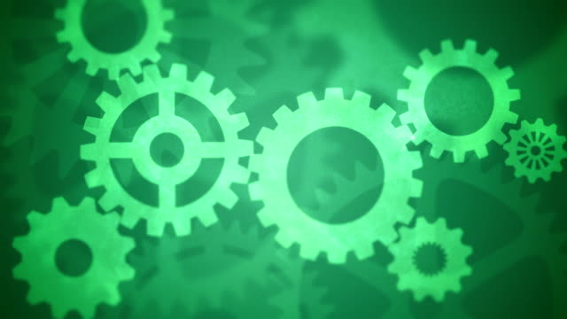 Abstract Gears Loopable green