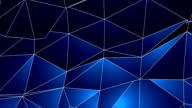 Astratto geometrico, sfondo di triangoli blu-HD
