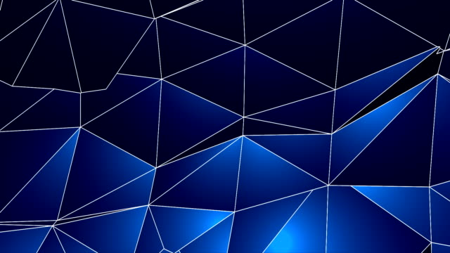 Abstract Geometric Triangles Background Blue-HD