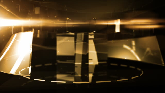 Abstract Glass Background Loop - Midnight Gold (Full HD)