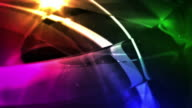 Abstract Glassy Rings Background Loop - Deep Rainbow (Full HD)
