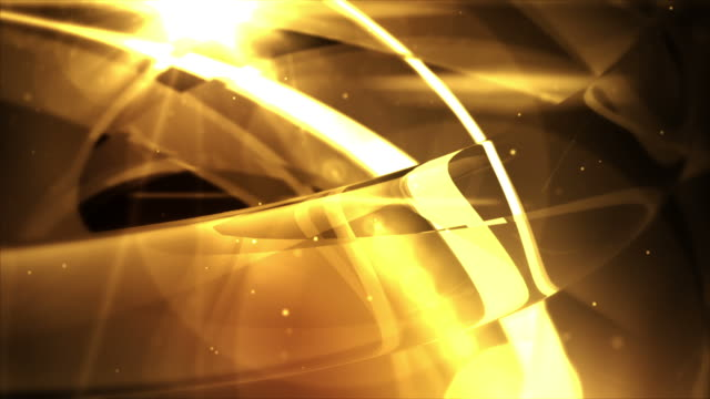 Abstract Glassy Rings Background Loop - Golden Glow (Full HD)