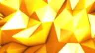 Oro astratto triangoli loopable video