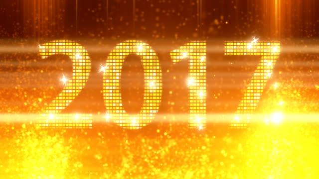 Abstracte gouden 2017 Nieuwjaar loopbare achtergrond