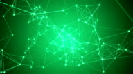 Abstract green network connection