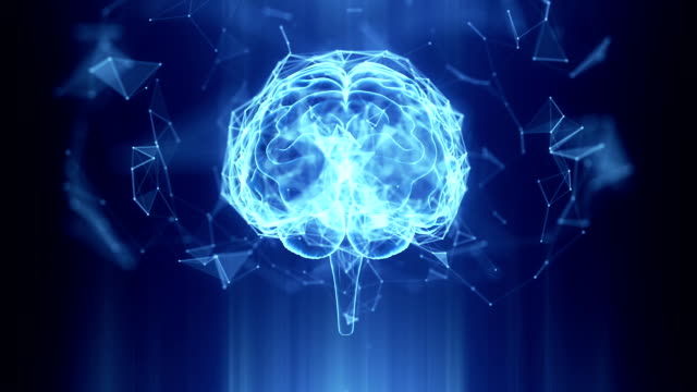 Abstract Human Brain Technology Background