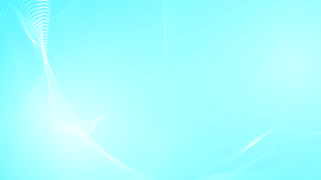 abstract light blue wave particles for motion background