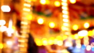 Abstract light Carousel, circus and Amusement park with kids