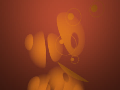 Abstract light glowing against an orange background