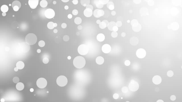 Abstract Lights bokeh Silver background