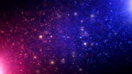 Abstract magic background with organic particles