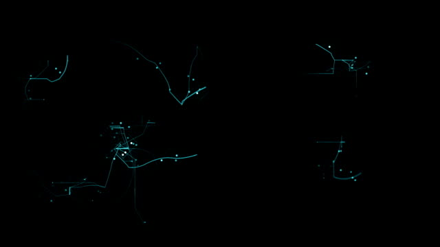 Abstract network animation.