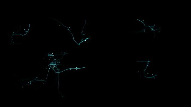 Astratto animazione di rete.