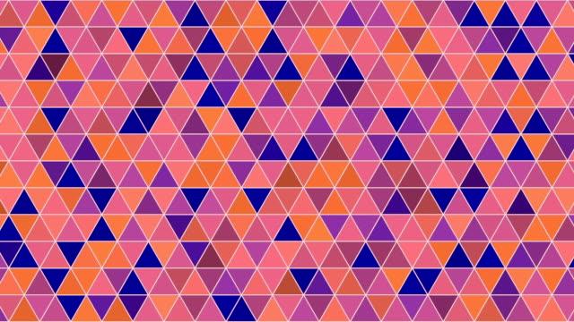 Abstract oranje tinten geometrische driehoek patroon 3D-rendering